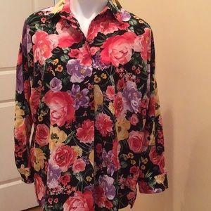 Carherine floral long sleeves top